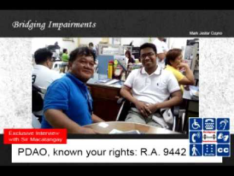 PDAO, know your rights: RA 9442