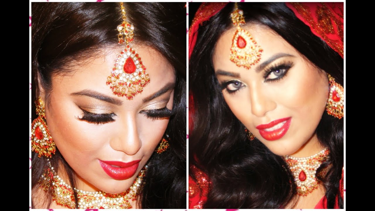 INDIAN PAKISTANI BRIDAL MAKEUP - YouTube