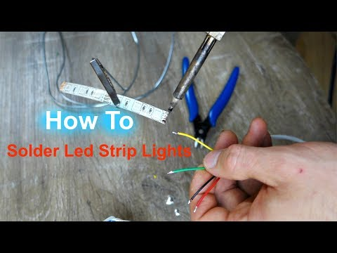 How To Solder Led Strip Lights - How To Cut and Solder RGB LED Strip Lights