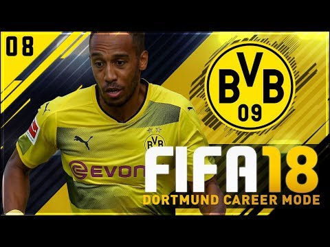 FIFA 18 Dortmund Career Mode Ep8 - AUBAMEYANG IS OVER POWERED!!