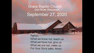 Grace Baptist Church Iron River Wi Sunday Sept 27 2020