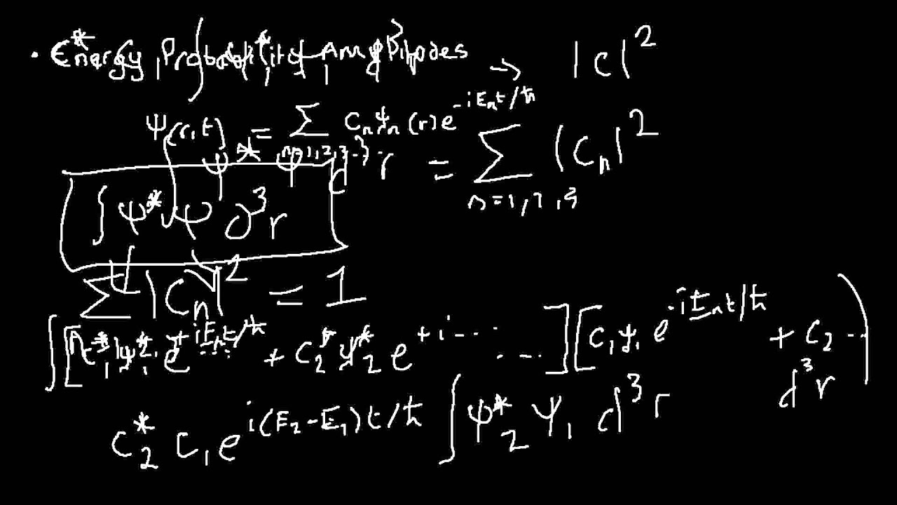 Quantum Mechanics 024 States Of Uncertain Energy Part 2 Energy Probability Amplitudes