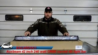 auxbeam curved 42 inch 240 watt cree 4d light bar review