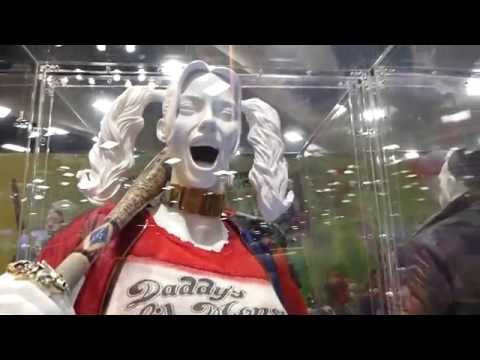 Suicide Squad & Wonder Woman Movie Costumes SDCC 2016 Display