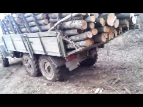 ЗИЛ 131 Russian Trial 6x6 Крымские дороги в лесу