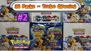 turbo opening xy evolutions booster box 2 all 36 packs pokemon tcg unboxing