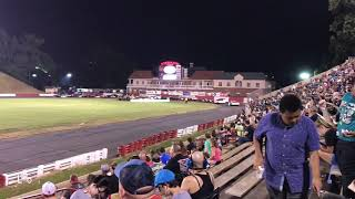 Bowman Gray Stadium crash with fire, 16 JUN 2018.