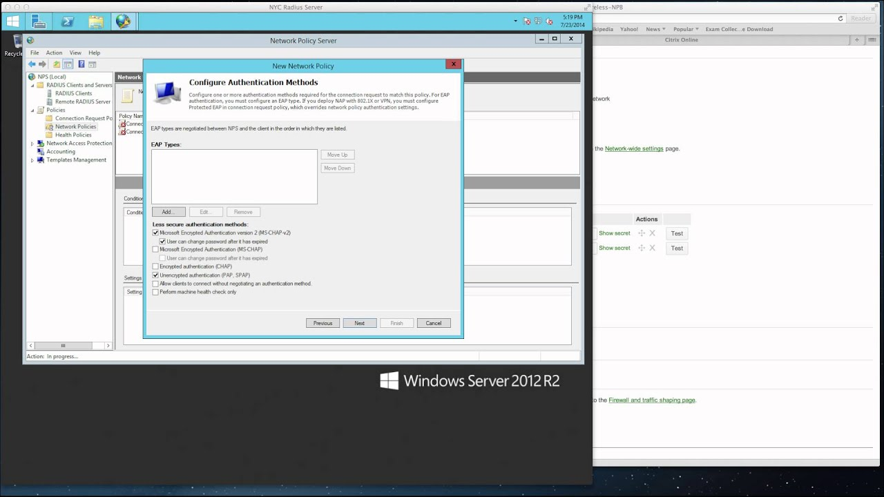 Microsoft Network Policy Server (NPS) with Cisco Meraki Wireless  Authentication video tutorial