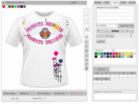 Online custom t shirt design software scripts and Online clothing design software