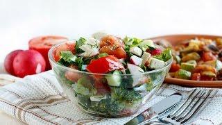 """Полезный и Вкусный САЛАТ """"ВЕСЕННИЙ""""! Рецепт салата Весенний. Салат из овощей. Vegetable salad"""