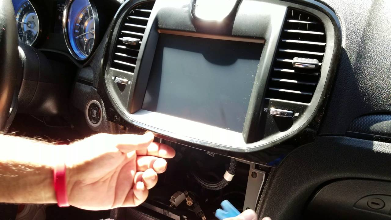 how to remove radio navigation display from chrysler 300 2012 rh youtube com