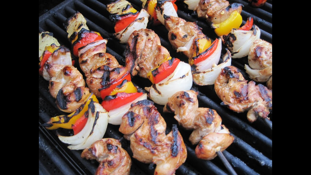 ... GRILLED CHICKEN KABOBS - How to make CHICKEN KABOBS recipe - YouTube