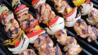 "Summertime ""Dynamite"" GRILLED CHICKEN KABOBS - How to make CHICKEN KABOBS recipe"