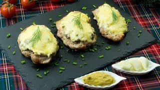 Оценят даже гурманы! Отбивные с грибами и сыром - нежное мясо, которое тает во рту. | Appetitno.TV