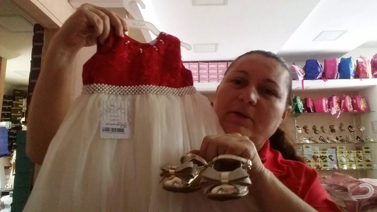 9e7ed05b8 Vestidos de batizado e festa, Loja 5 AC Moda Infantil - YouTube