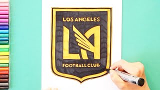 How to draw and color Los Angeles FC Logo - MLS Team Series
