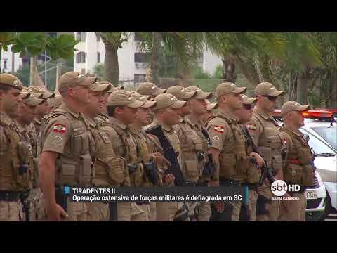 Policiais saem às ruas para combater a criminalidade na Operação Tiradentes II