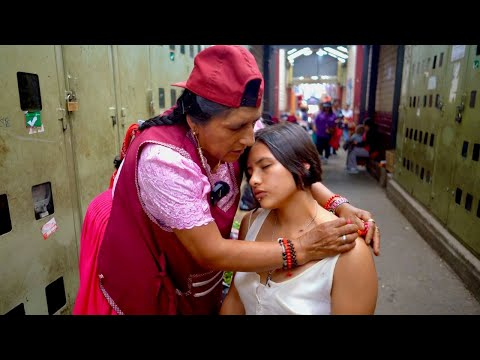 Street Massage And ASMR Limpia (spiritual Cleansing) With Neck/back Cracking By Doña Rosa