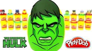 Hulk Avengers Sürpriz Yumurta Oyun Hamuru Yenilmezler Oyuncakları