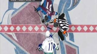 NHL 11: Canucks Vs Avalanche (INTENSE FULL GAME)