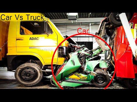 Car Vs Truck Crash Test 🤯 - Trailer Underride Testing 2020