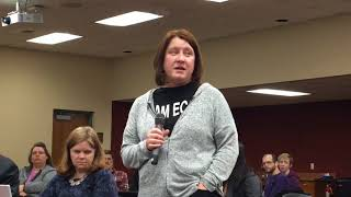 ECOT teacher Andrea Bond asks to keep school open