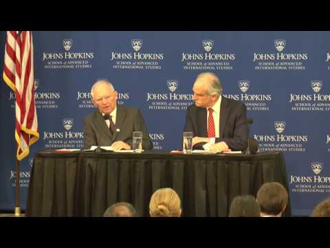 Building Europe's Future: Dr. Wolfgang Schauble, Federal Minister of Finance, Germany