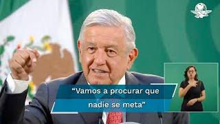 El presidente López Obrador dijo que las diferencias que tiene con las autoridades electorales son porque no han actuado con rectitud y se han sometido a la antidemocracia