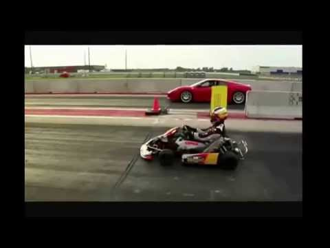 Ferrari Challenge Stradale VS Go Kart CRG Road Rebel  6-speed .