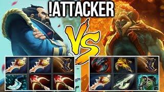 !Attacker Dota2 [Kunkka] Double Rapier vs Full Item Huskar
