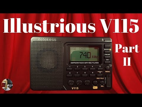 Do It All! Tivdio V-115 Clone FM/AM/SW Portable Radio Review II