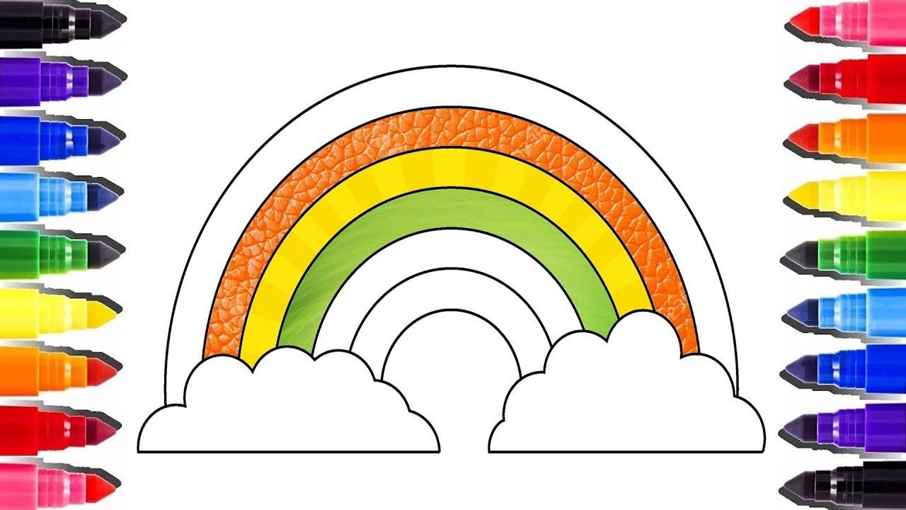 Glitter Rainbow Coloring Pages Arc En Ciel Coloriage Enfant How To Draw Rainbow