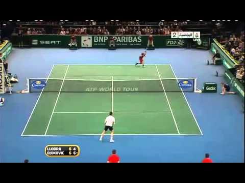 Djokovic VS Llodra Paris  2010