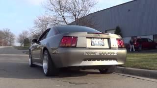 Dr. Gas Freq Mod Muffler 2001 Mustang GT Walk Around and Revs