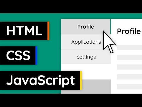 Create Tabs With HTML, CSS And JavaScript! - Web Design Tutorial