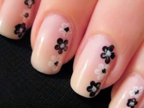 Easy Nail Art For Beginners Flower Nails Youtube