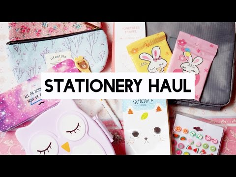 Cute Stationery Online Haul ♡ Notes, pens, pencil cases, etc
