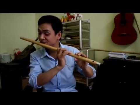 Cô hàng xóm ( Sol trầm ) - Sáo trúc Huy Hiệu- flute