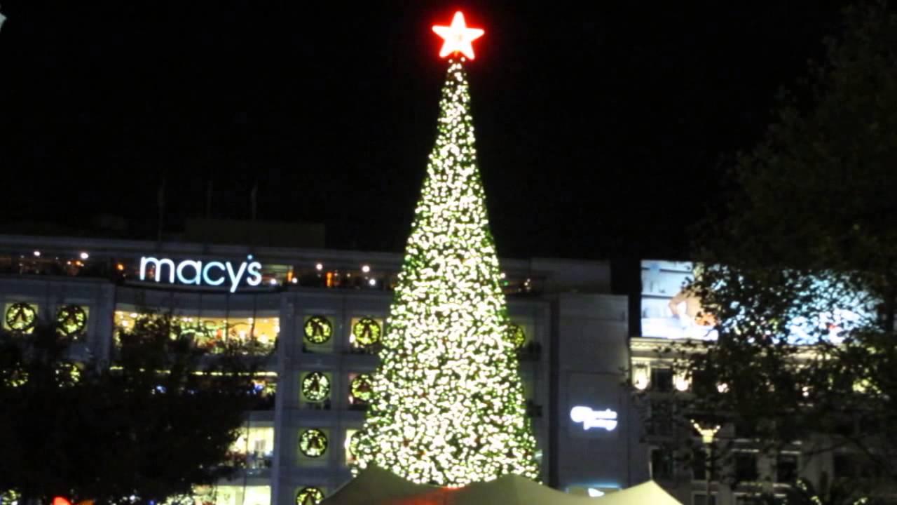 Tree Lighting Ceremony Union Square San