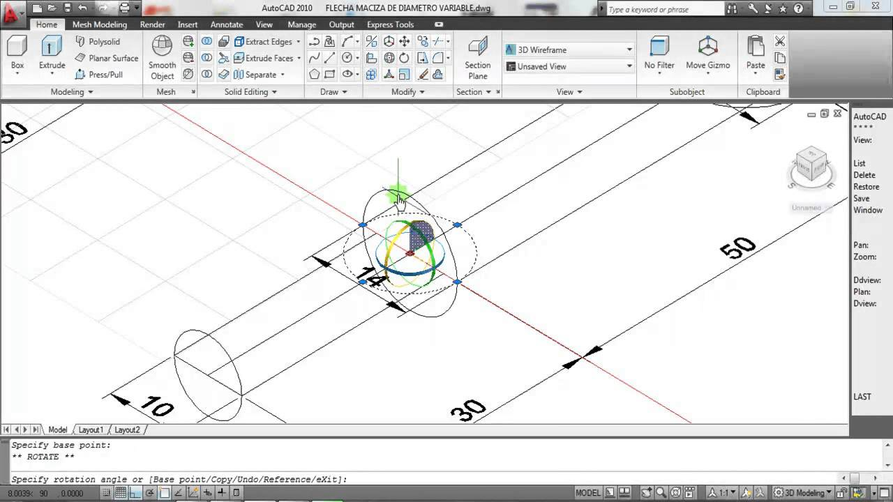 20 LECCIN AUTOCAD 3D FLECHA MECNICA SHAFT  YouTube