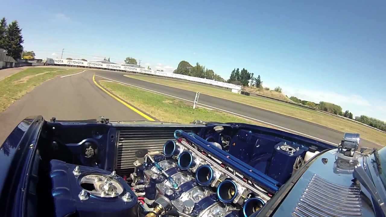 PPRE 6 Rotor RX4 Track Test at the 2013 V 4 & Rotary North Island Jamboree  (Onboard Footage)