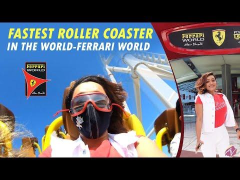 Fastest Roller Coaster In the World – Ferrari World | Aawari Aarya | Travel Vlog