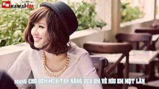 Chờ Ngày Mưa Tan  Noo Phước Thịnh ft. Tonny Việt  Video Lyric Kara ]