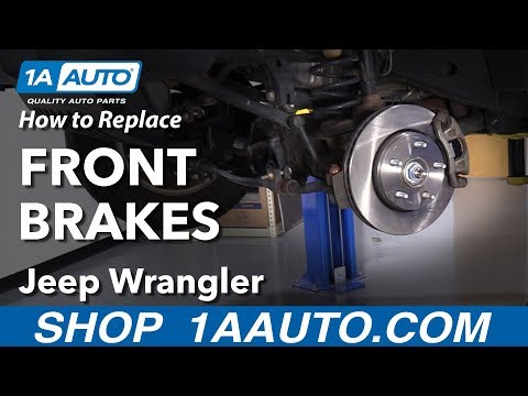 How to Replace Front Brakes 07-16 Jeep Wrangler