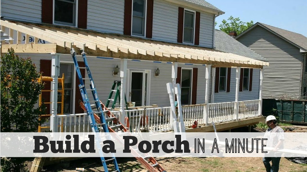 Build a porch in a minute by front porch ideas youtube solutioingenieria