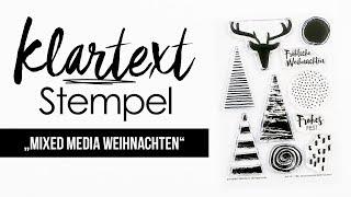 "Das Klartext-Stempelset ""Mixed Media Weihnachten"""