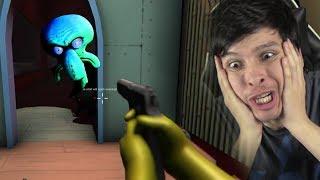 BOB ESPONJA TIENE ARMAS EN SU PESADILLA DE CALAMARDO !! - The Nightmares At The Krusty Crab