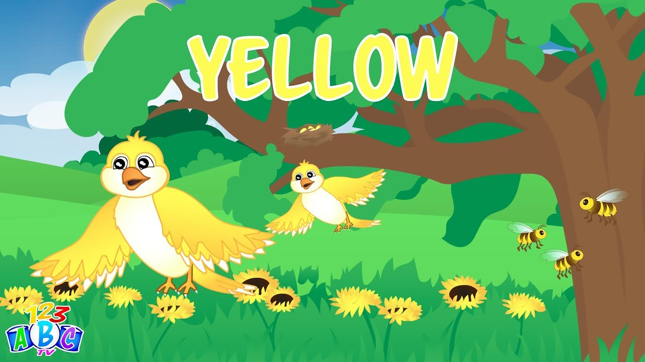 The Color Yellow Song – Yellow Song for Kids – Learn the Colors for ...
