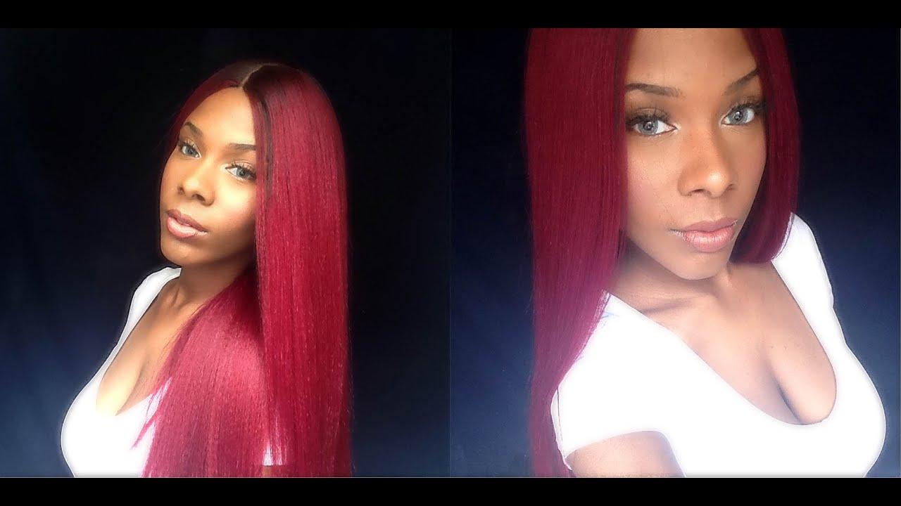 Saga 100 Remy Hair Wig Yaky Cap 26 Inch Youtube