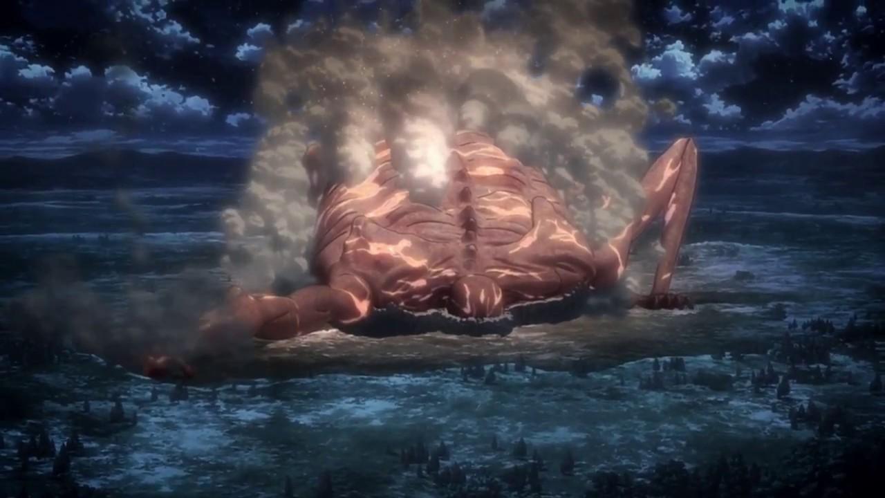 Attack on Titan/Shingeki no KyojinTitan Rod Reiss 120 meters Arrival in Orvud district. My ...